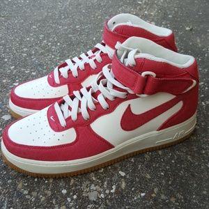Nike Shoes - Nike Air Force 1 Mid University Red Mens 10.5 309b1c140